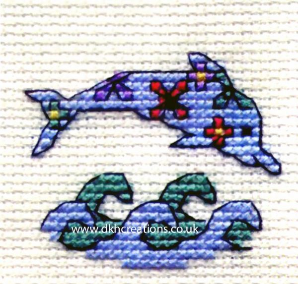 Floral Dolphin Cross Stitch Kit